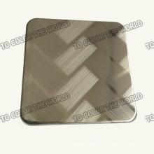410 aço inoxidável Ket010 gravado folha para materiais de decoração