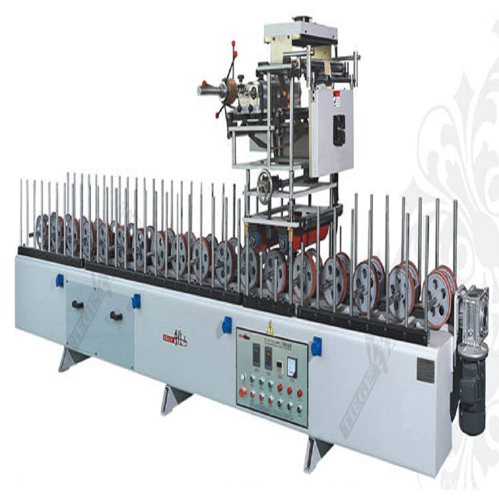 woodworking profile wrapping machine