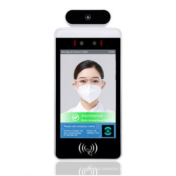 8 inch access control face recognition system door infrared thermometer ip camera instrument stand sensor school