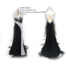 2016 вечернее платье в Китае отсутствие невесты платья без рукавов вечернее платье партии стразами черные платья невесты