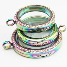 Joyería viva de los Lockets del arco iris caliente de la venta