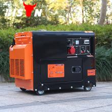 BISON Китай Тайчжоу 6KW 6000W переменного тока однофазный с воздушным охлаждением Silent Hyundai дизельный генератор 6 кВт