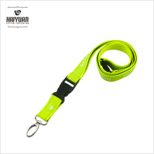 Lime Double-Layer Lanyard with Metal Oval Hook