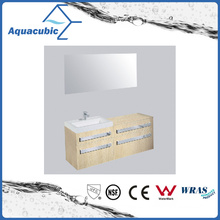 Bathroom Vanity with Side Cabinet and Mirror (ACF8926)