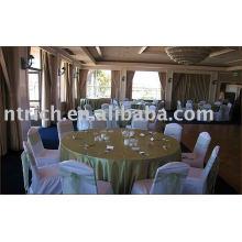 housses de chaise de polyester 100 %, couverture de chaise de banquet/hôtel/mariage, ceinture d'organza