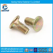 DIN603, DIN605, DIN608 Farbe verzinkt Senkkopf Vierkantschraube, Schlittenschraube