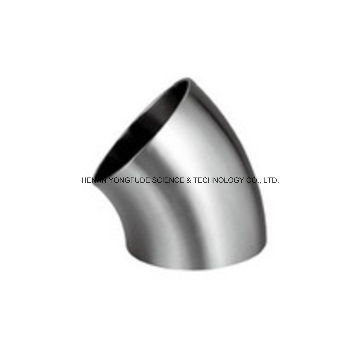 Coude en acier inoxydable polyvalent poli 45 degrés coude