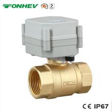 """1 """"Válvula de agua de bola de latón de actuador eléctrico de 2 vías (T25-B2-A)"""