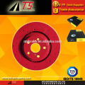 drilled slotted disc brake rotor brake parts system, auto spare parts factory