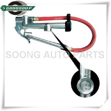 Indicador de inflación de las herramientas de la pistola / del vehículo del inflador del neumático del mandril del pie doble