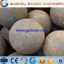 dia.80mm,100mm rolled steel grinding media balls, dia.125mm grinding media mill steel balls, high carbon alloy steel balls