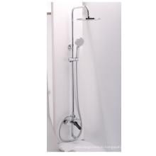 Surface waterfall head shower faucet hand shower faucet Wall Mounted Copper Cuprum bathroom shower faucet set