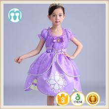 niños ropa de princesa bebé de dibujos animados custome cosplay vestidos niñas Bell vestidos de fiesta de la princesa