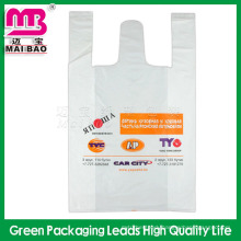 Cheap Price Custom Made Gravure Printing Biodegradable Thank You Plastic T-Shirt Bags Wholesale