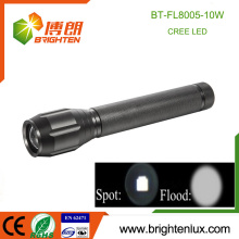 Factory Supply Heavy Duty Metal Zoom Focus 3C battery Powered Multi functional xml-2 10w Power Style Cree led Torch Flashlight