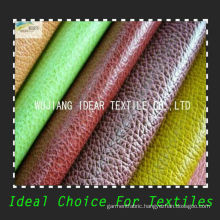 All Colors Soft Embossed PU Leather/Upholstery Fabric/Faux PU Leather Fabric