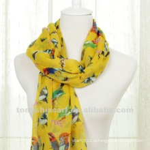 Полиэстер шарф птица