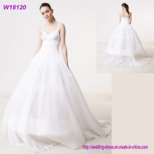 Beautiful Long Chiffon Applique Designed High Quality Wedding Dress