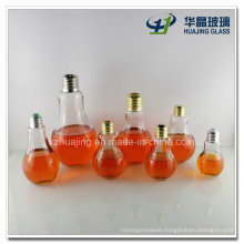 150ml 200ml 250ml 300ml Light Bulb Juice Beverage Glass Bottle