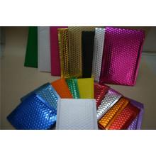Bolsas de plástico compuestas de galvanoplastia / envoltura plástica de la burbuja del color