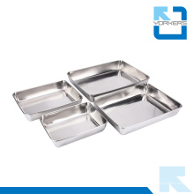 Restauration et fournitures d'hôtels en acier inoxydable Metal Serving Trays Wholesale