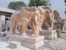 Life Size Stone Marble Elephant for Garden Decoration