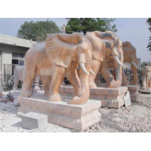 Life Size Stone Marble Elephant for Garden Decoration