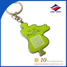 Kundenspezifisches QR Code keychain mit schöner Farbe und Form