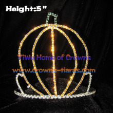 5inch Crystal Unique Pageant Pumpkin Crowns