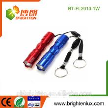 Venta al por mayor baratos al por mayor de aluminio de aleación de tamaño pequeño portátil colorido regalo brillante 1w llavero linternas