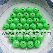Hot Sale for for Resin Rhinestone Beads Online Sale Emerald Green Color Plastic Disco Dot Beads 5MM supply to Guyana Supplier