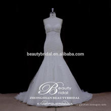 New Fashion Tiny Luxurant Sequins Crystal Tulle Skirt Strapless Bride's Wedding Gowns