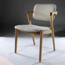 Новые прибытия ткань диван кресло обеденный стул с деревянной ноги
