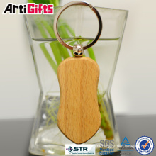 Best promotional items fashion design wood keychain