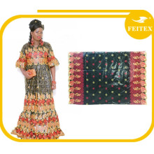 New African Cotton Damask Bazin Riche Dresses Embroidery For Women