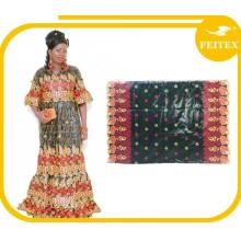 Новая Африканская Хлопок Базен Риш Дамасская Вышивка Платья Для Женщин