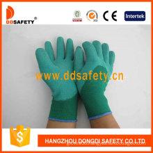 Green Nylon Green Latex Gloves (DNL612)