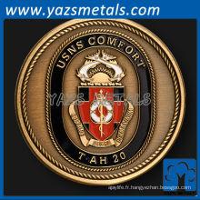 personnaliser la pièce de défi de navire naval de confort USNS
