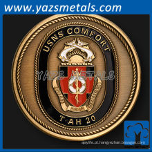personalize o USNS comfort naval ship challenge coin