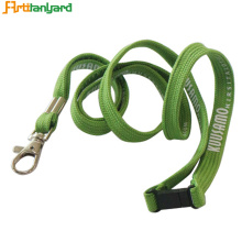 Green Color Muticolorful Tubular Lanyard