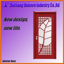 Porta de entrada de madeira e vidro porta