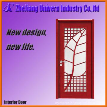 Porte d'entrée de porte en bois et verre