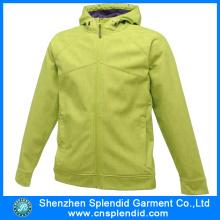 China Fábrica de alta qualidade Mulheres Softshell casacos com zíper