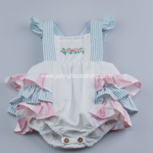 Baby Clothes Cotton&Linen Ruffled Romper for Girl 12M-4T