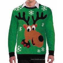 PK18ST057 neueste Design unisex Elch hässliche Weihnachten Pullover