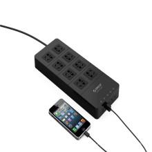 Venda por atacado ORICO HPC-8A5U 8 tomada elétrica com 5 USB HUB