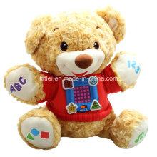 Préscolaire éducatif bébé musique en peluche cadeau de Noël ours en peluche jouet