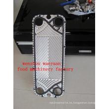 Placa para el intercambiador de calor de placa