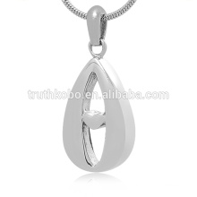 Wholesale Cremation Jewelry Stainless Steel Pendant Ashes Urn Jewelry Heart Memorial Necklace