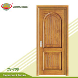 simple design finishing teak wood door frame